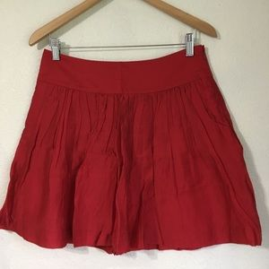 Express red skirt size 2